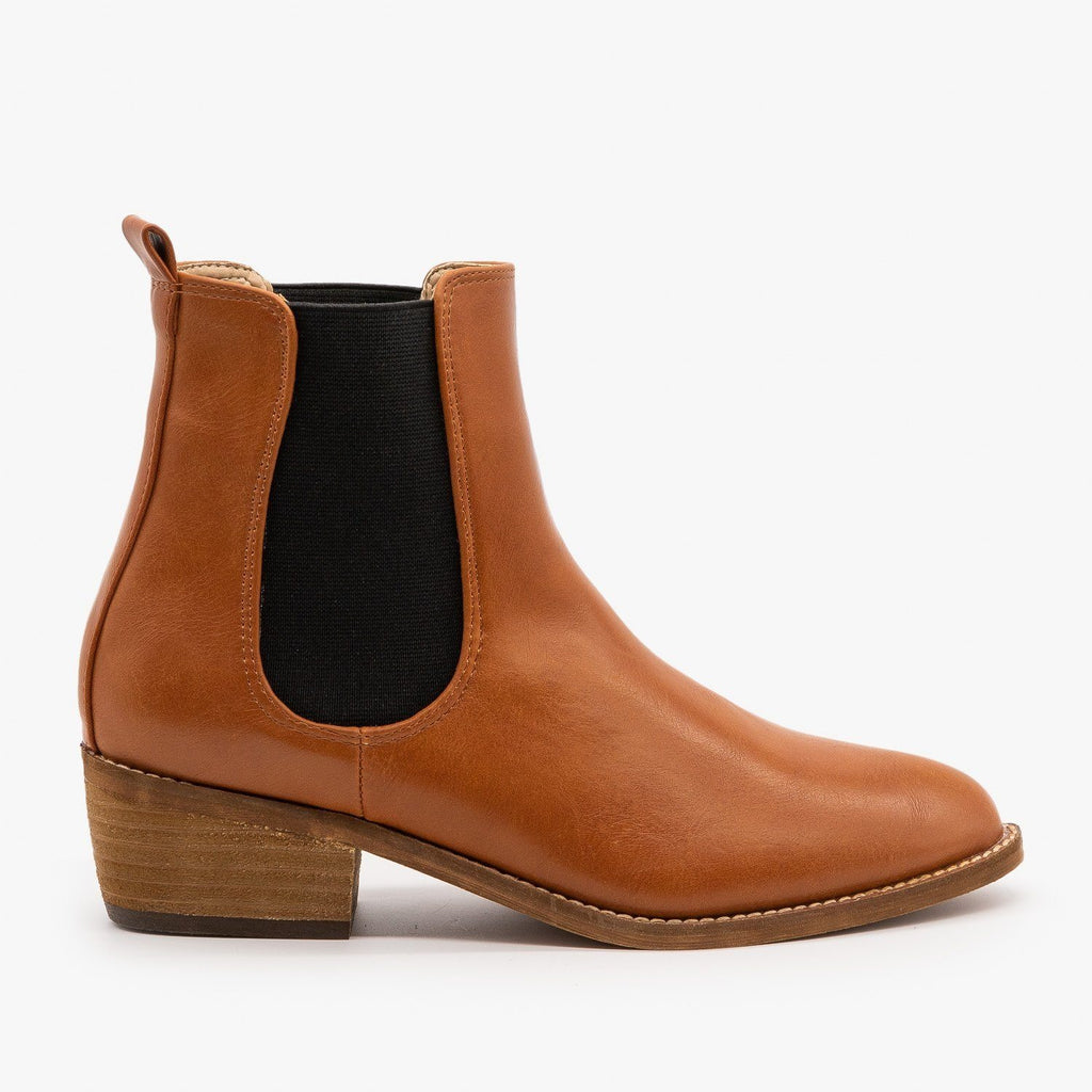 Womens Essential Slip On Ankle Booties - ARider Girl - Whisky / 5
