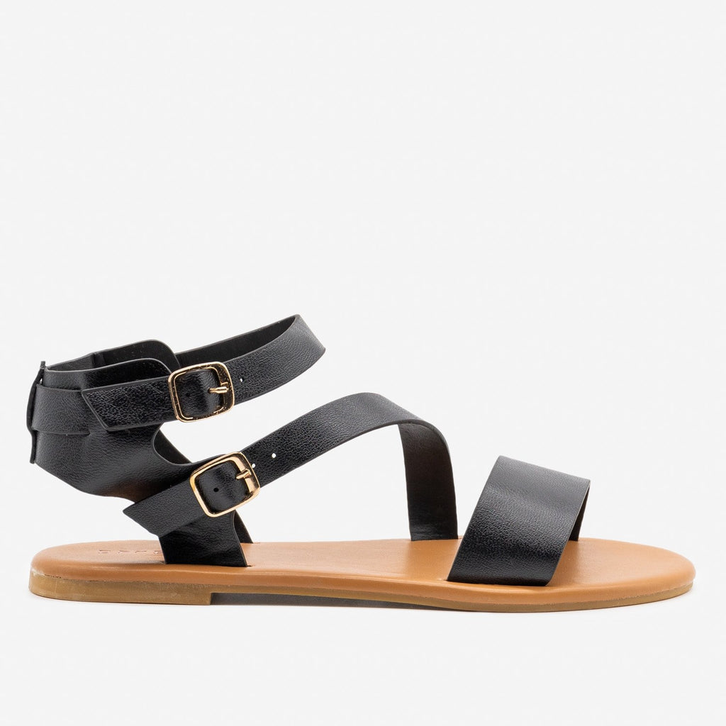 Women's Essential Summer Sandals - Bamboo Shoes - Black / 5