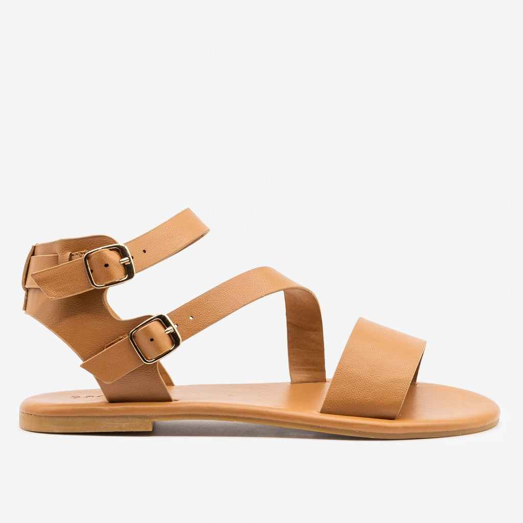 Women's Essential Summer Sandals - Bamboo Shoes - Tan / 5