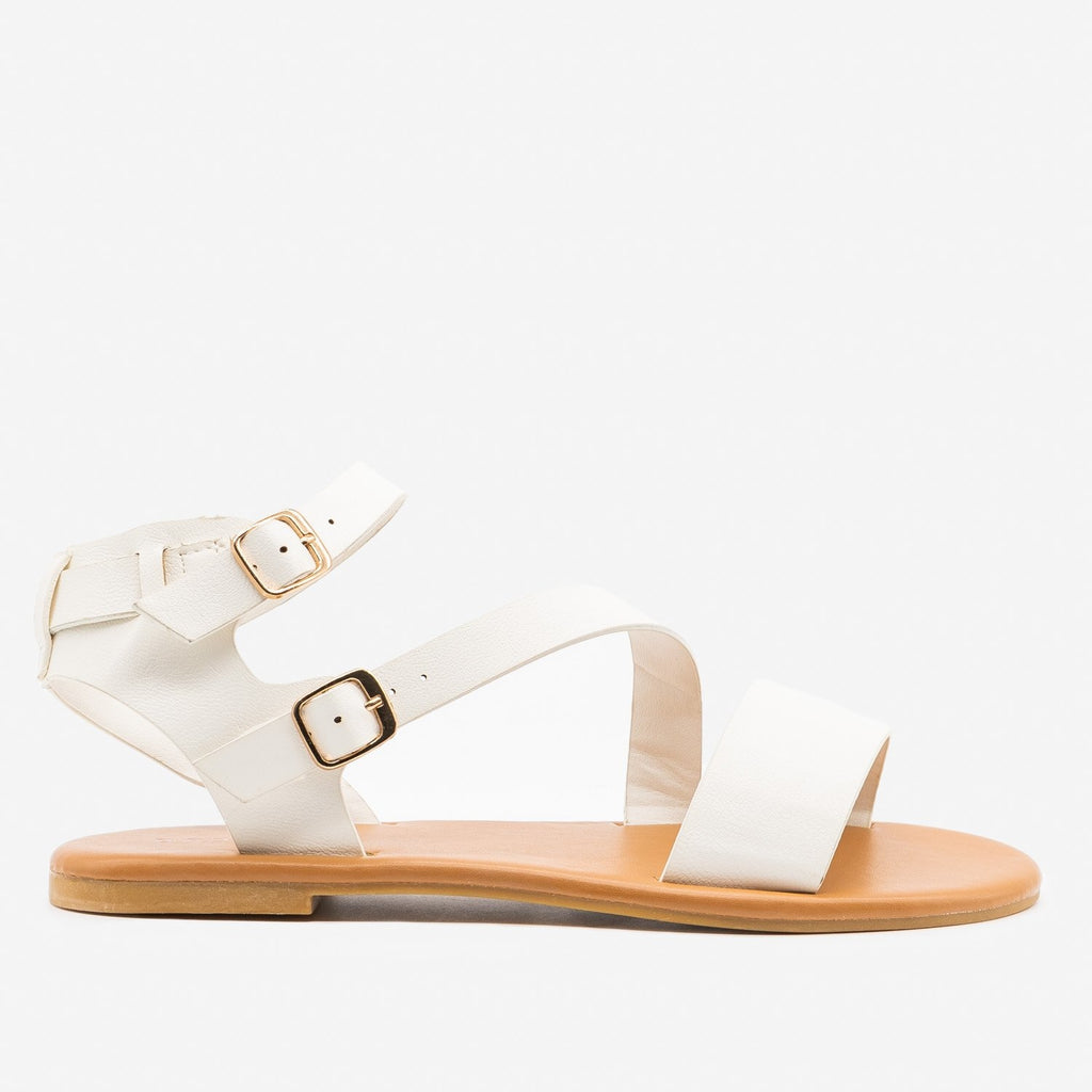 Women's Essential Summer Sandals - Bamboo Shoes - White / 5