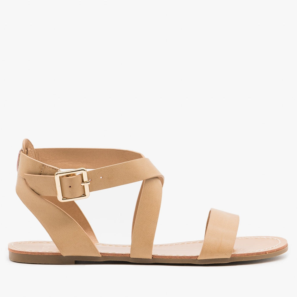 Women's Essential Summer Sandals - Novo Shoes - Nude / 5