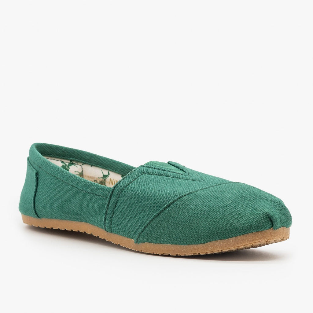 Womens Everyday Canvas Slip-On Flats - Refresh - Spruce / 5