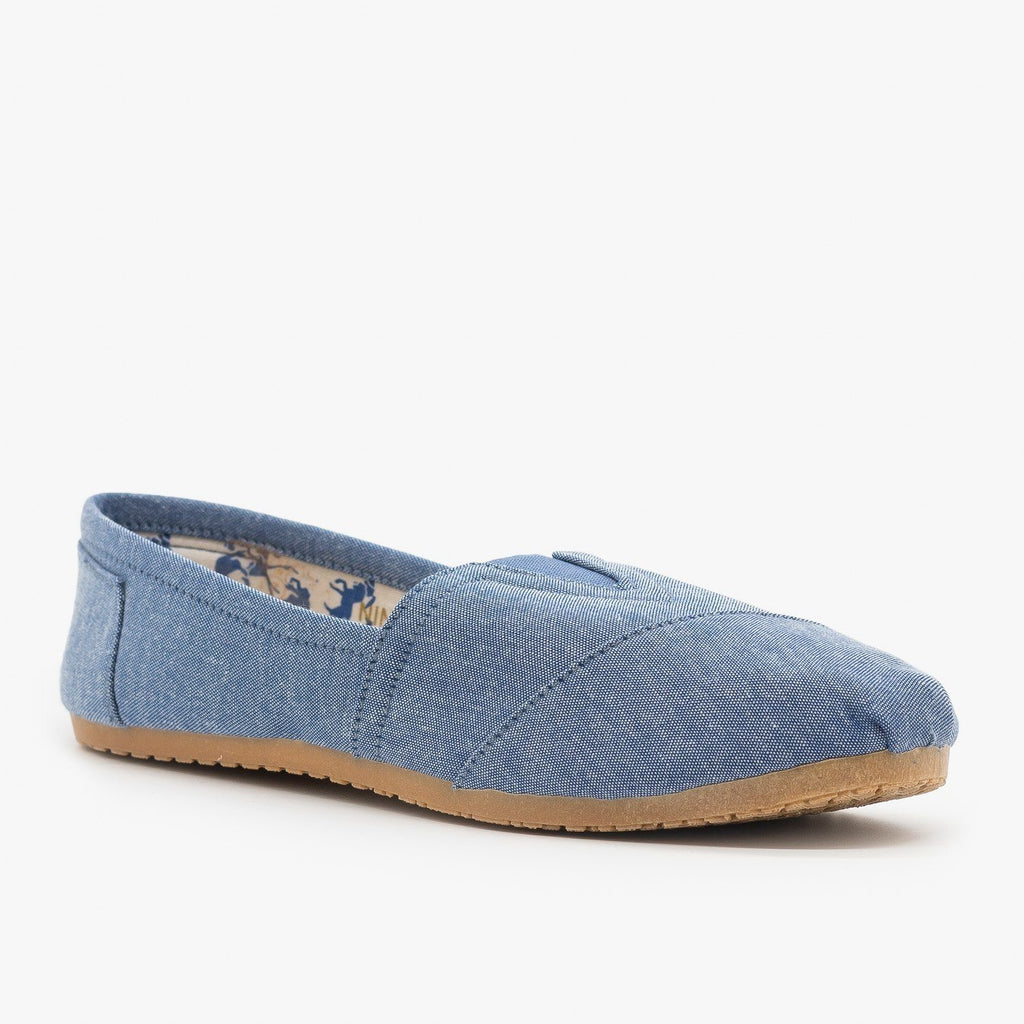 Womens Everyday Canvas Slip-On Flats - Refresh - Chamray / 5