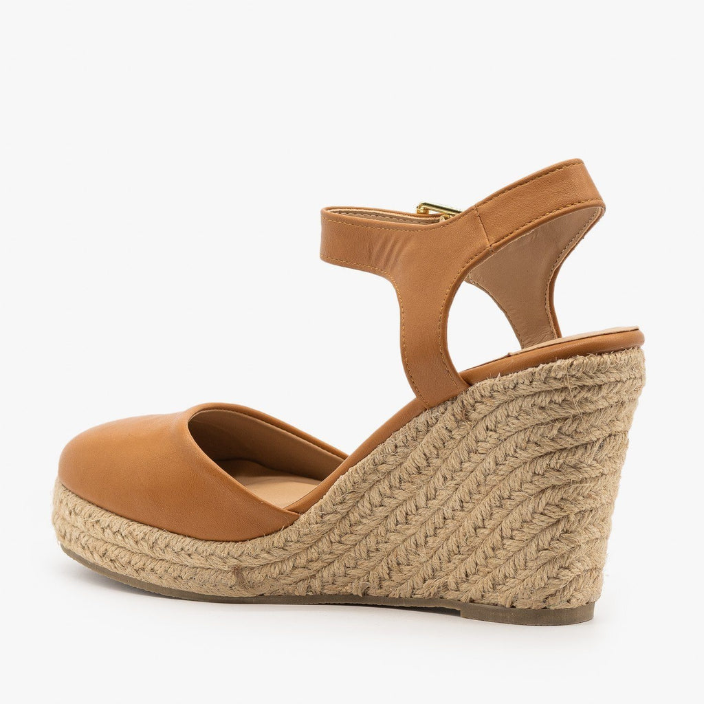 Womens Everyday Closed-Toe Espadrille Wedges - Qupid Shoes