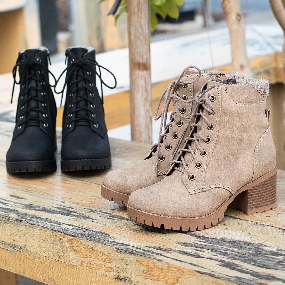 Women's Everyday Combat Booties - Soda Shoes