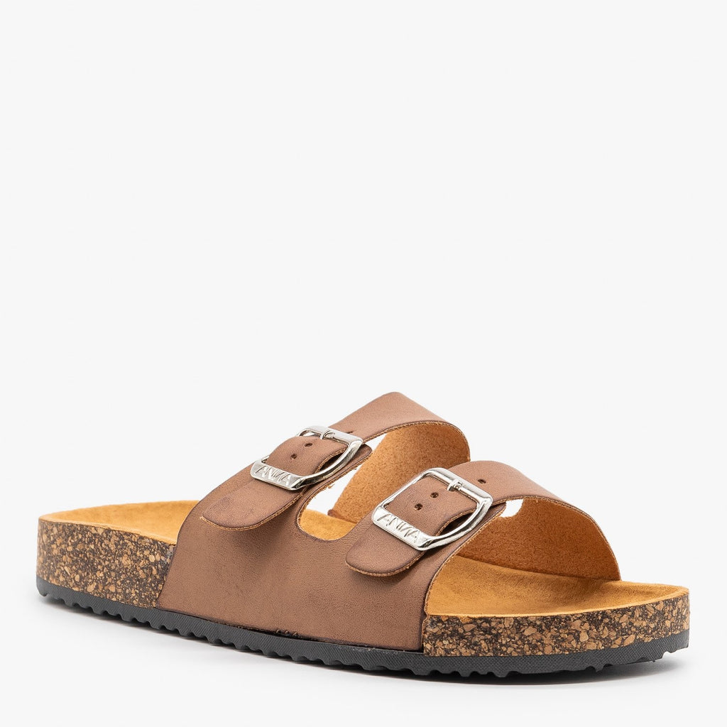 Womens Everyday Comfy Double Buckle Sandals - Anna Shoes