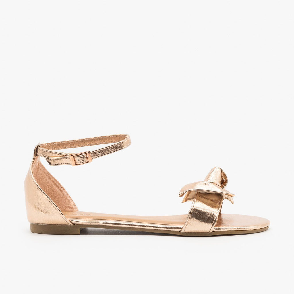 Womens Everyday Dainty Flats - Bamboo Shoes - Rose Gold / 5