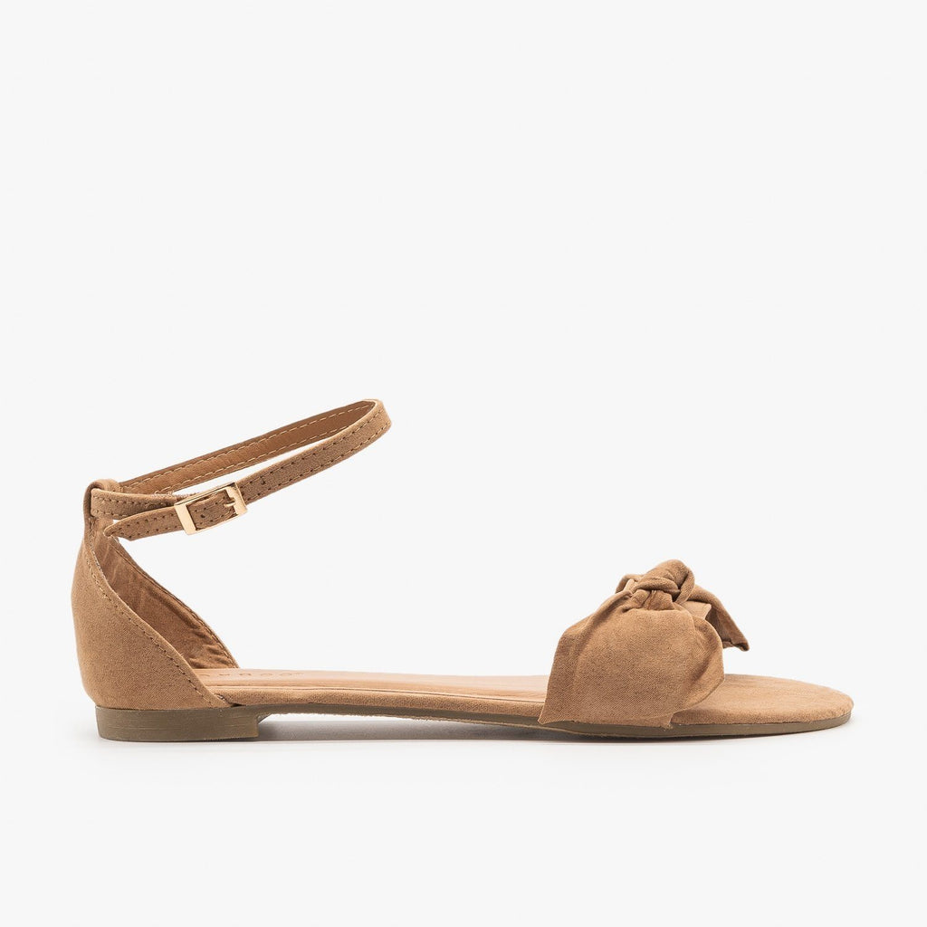 Womens Everyday Dainty Flats - Bamboo Shoes - Camel / 5