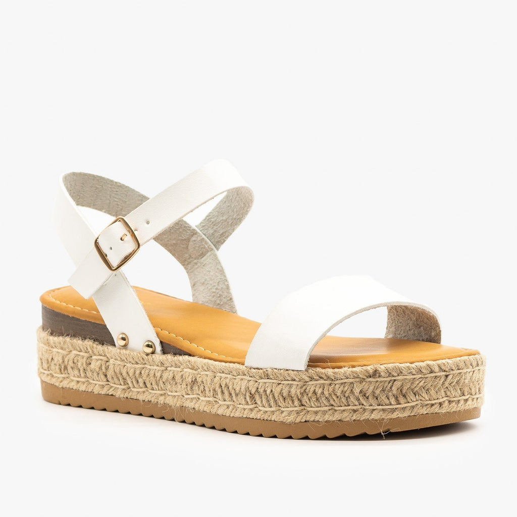 Womens Everyday Espadrille Flatforms - Bamboo Shoes