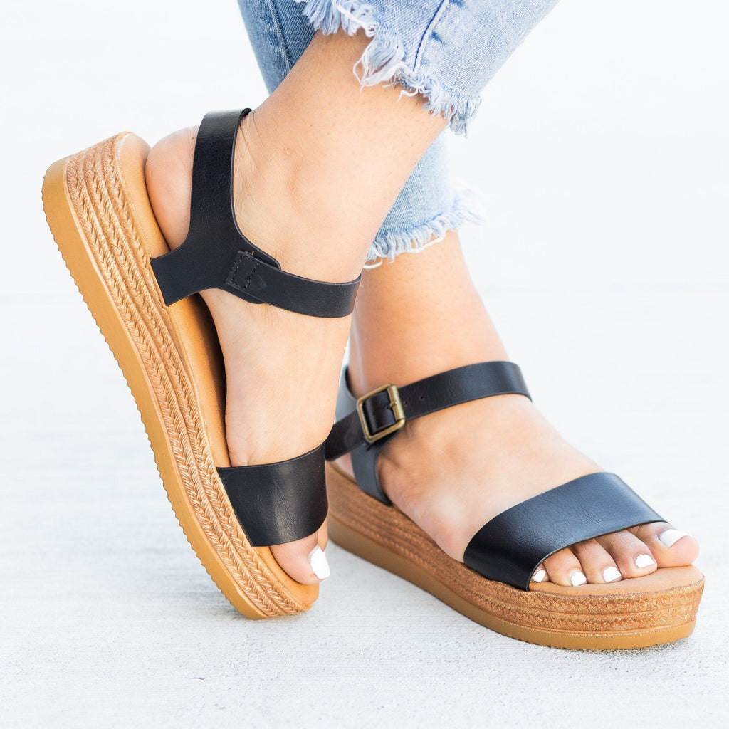 Womens Everyday Espadrille Wedges - Bamboo Shoes