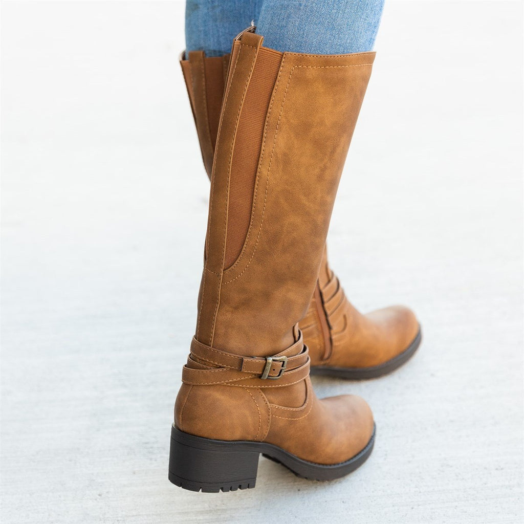 Women's Everyday Fall Riding Boots - Soda Shoes