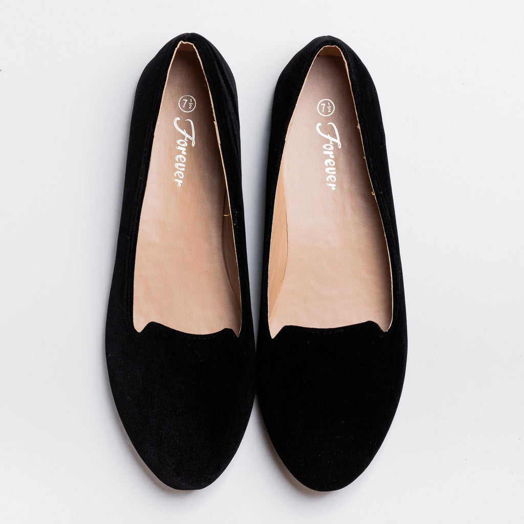 Womens Everyday Loafer Flats - Forever - Black / 5