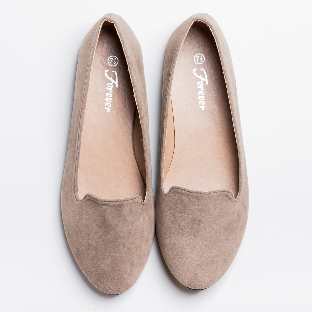 Womens Everyday Loafer Flats - Forever - Taupe / 5