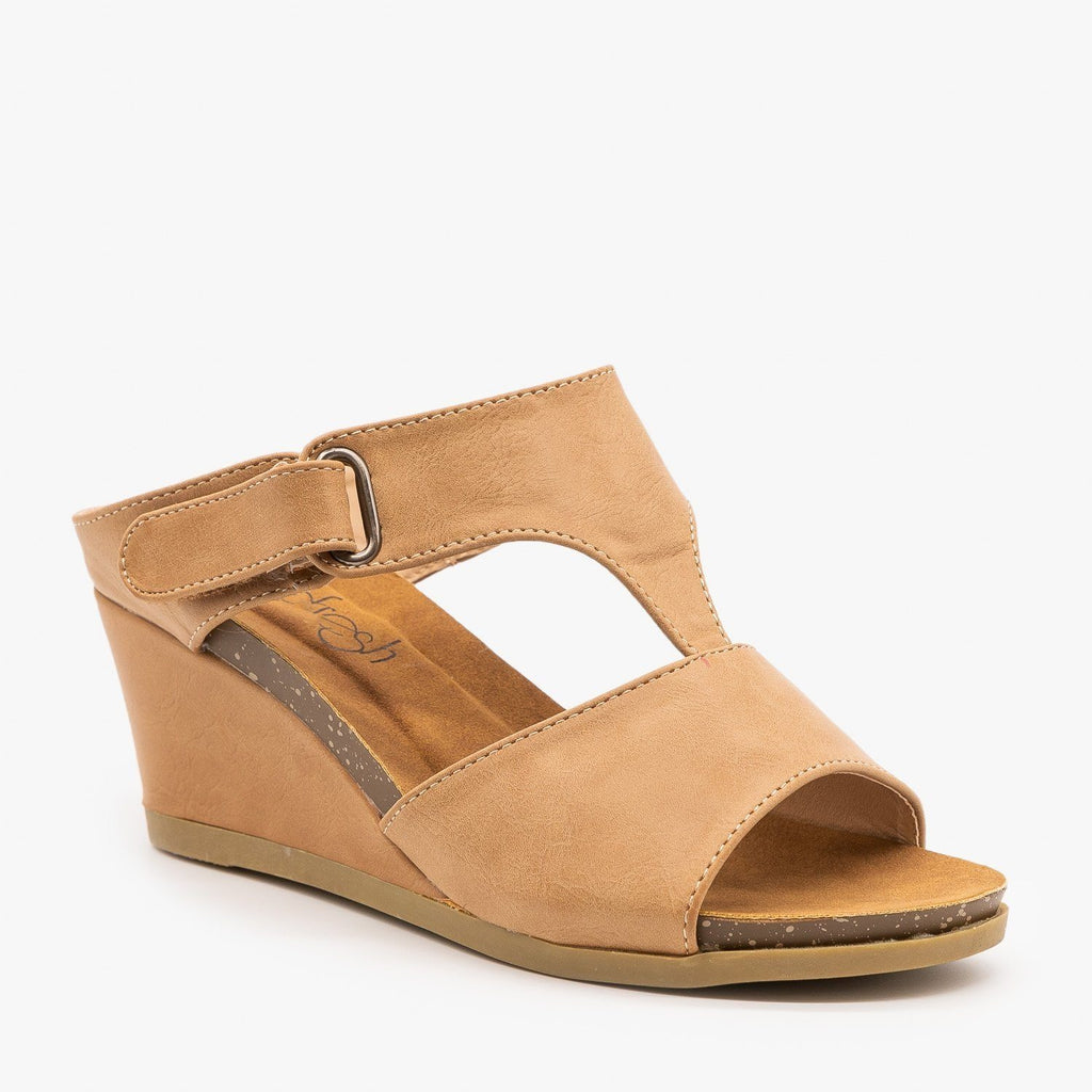 Womens Everyday Wedge Sandals - Refresh - Taupe / 5