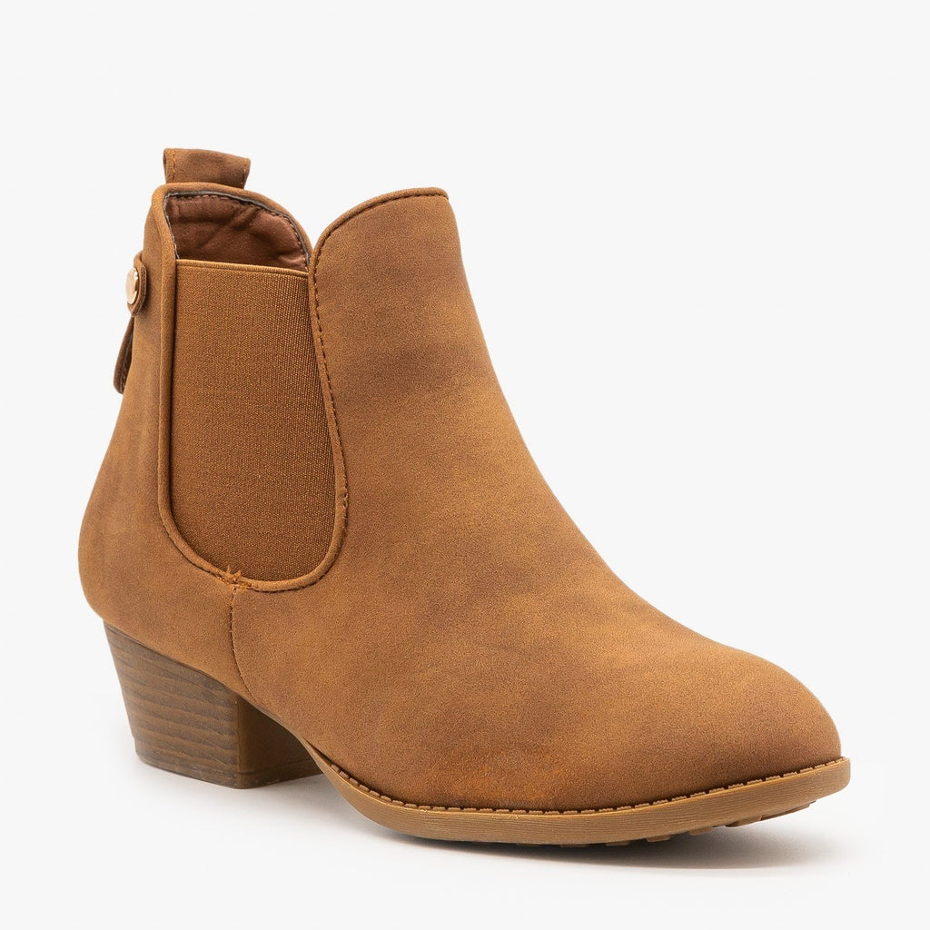 Womens Everyday Western Chelsea Booties - Top Moda