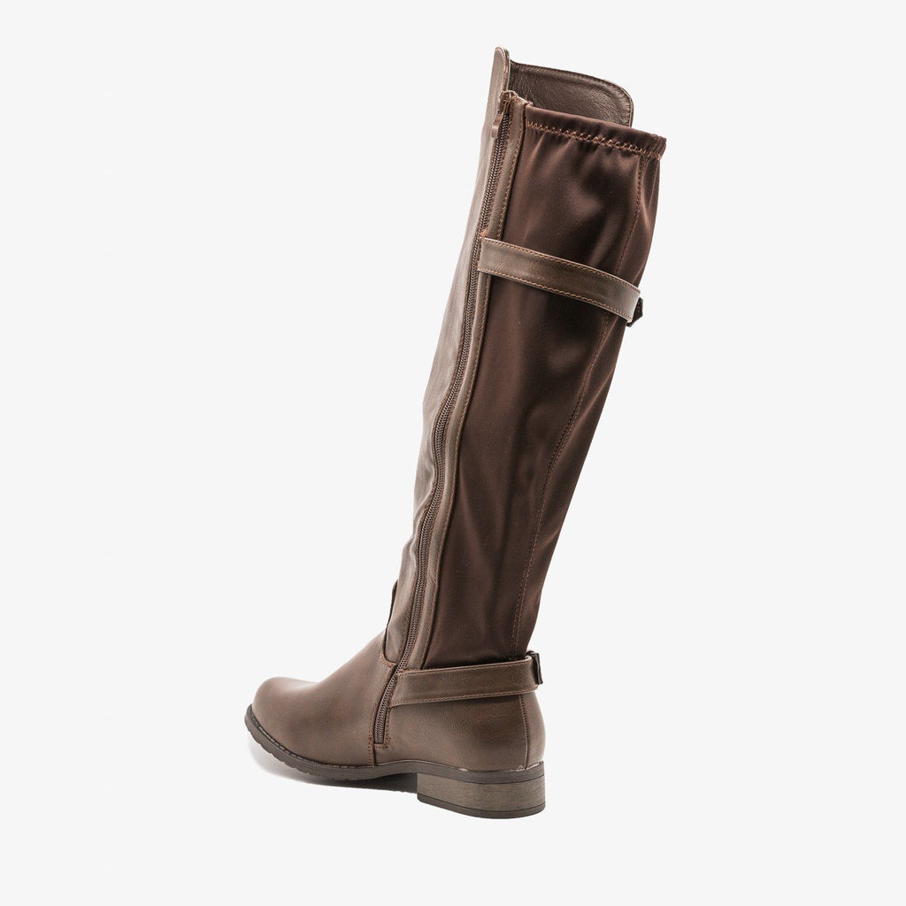 Womens Fabulous Buckled Riding Boots - Refresh