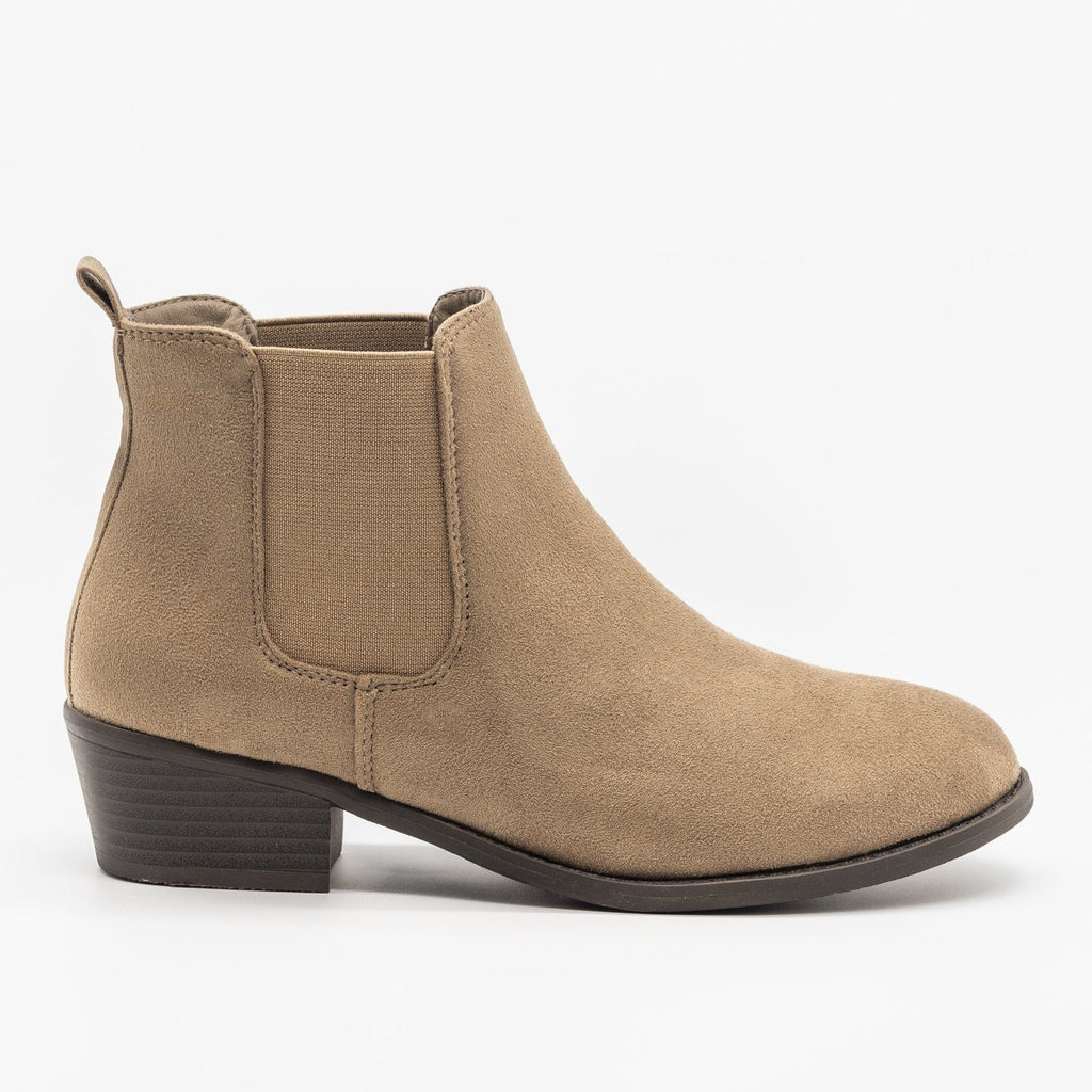 Womens Fall Slip-on Bootie - Refresh - Taupe / 5