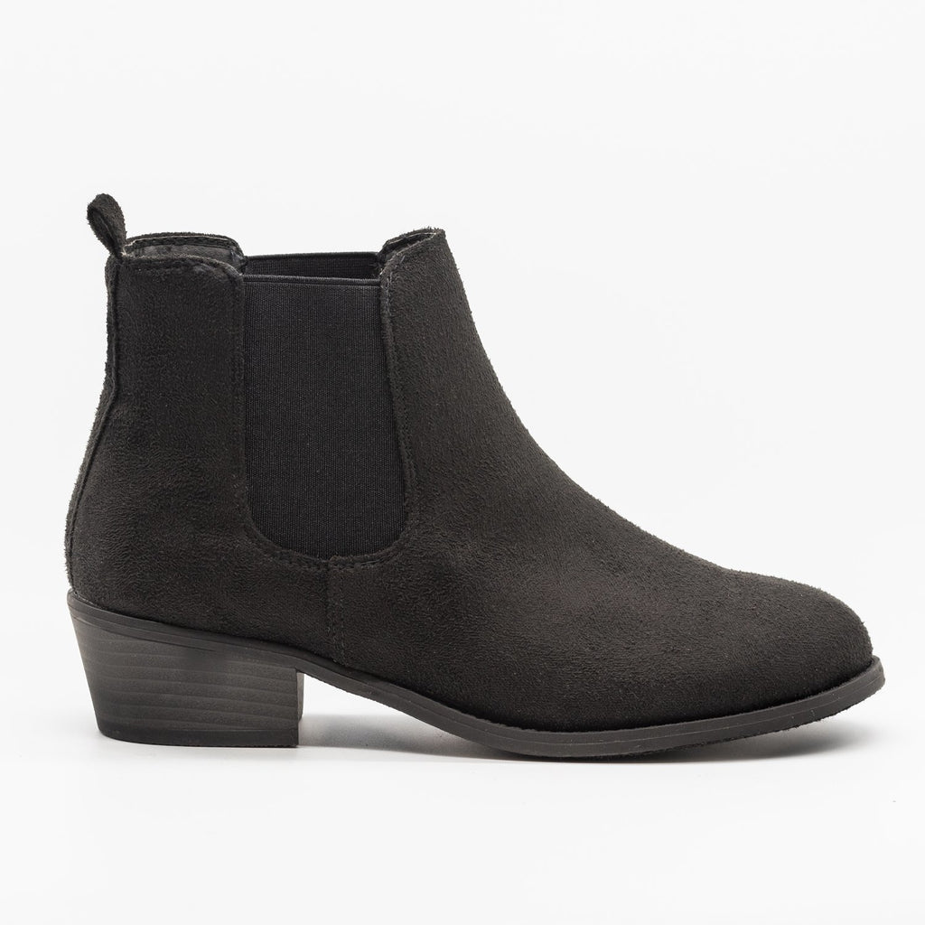 Womens Fall Slip-on Bootie - Refresh - Black / 5