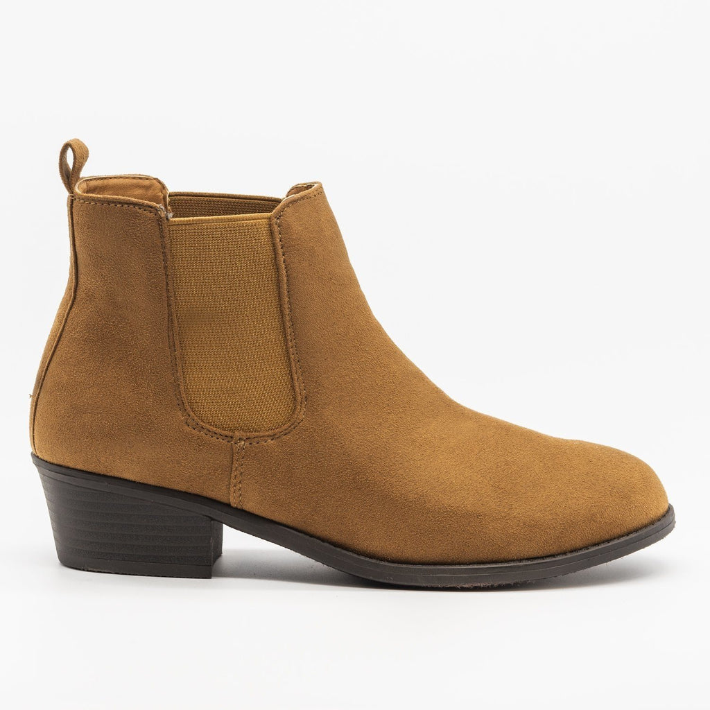Womens Fall Slip-on Bootie - Refresh - Tan / 5