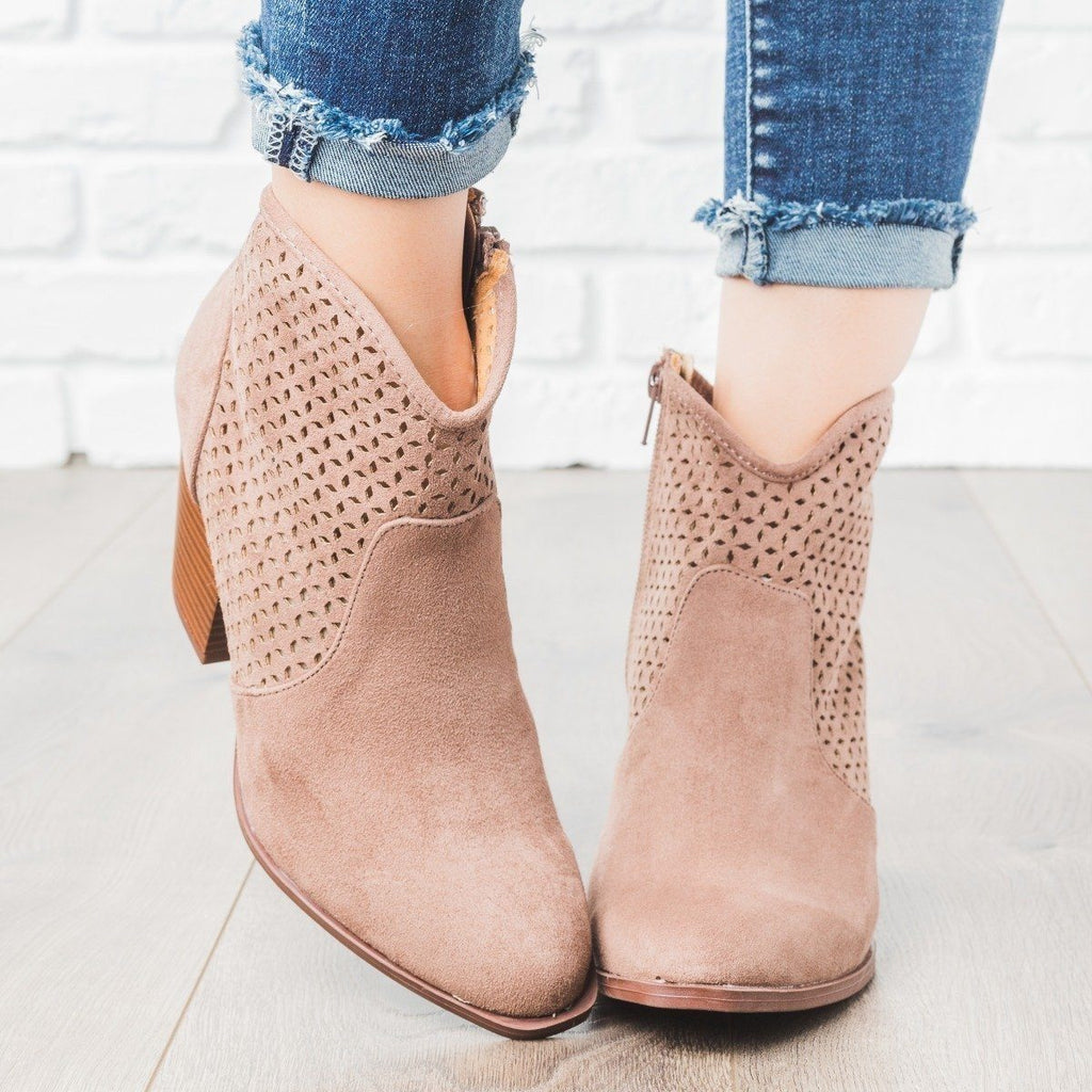 Womens Fall Transitional Booties - Qupid Shoes