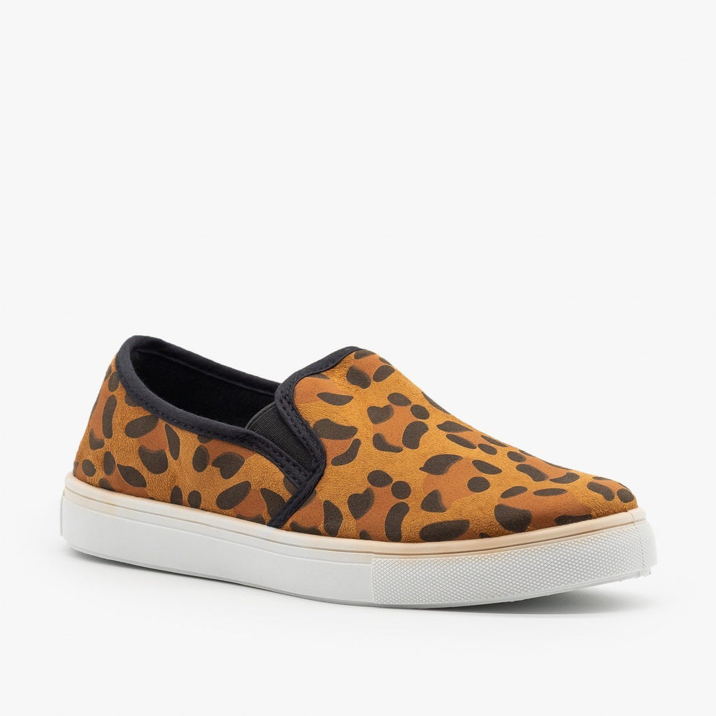 Womens Fashion Animal Print Slip-Ons - Soho Girls - Leopard / 5