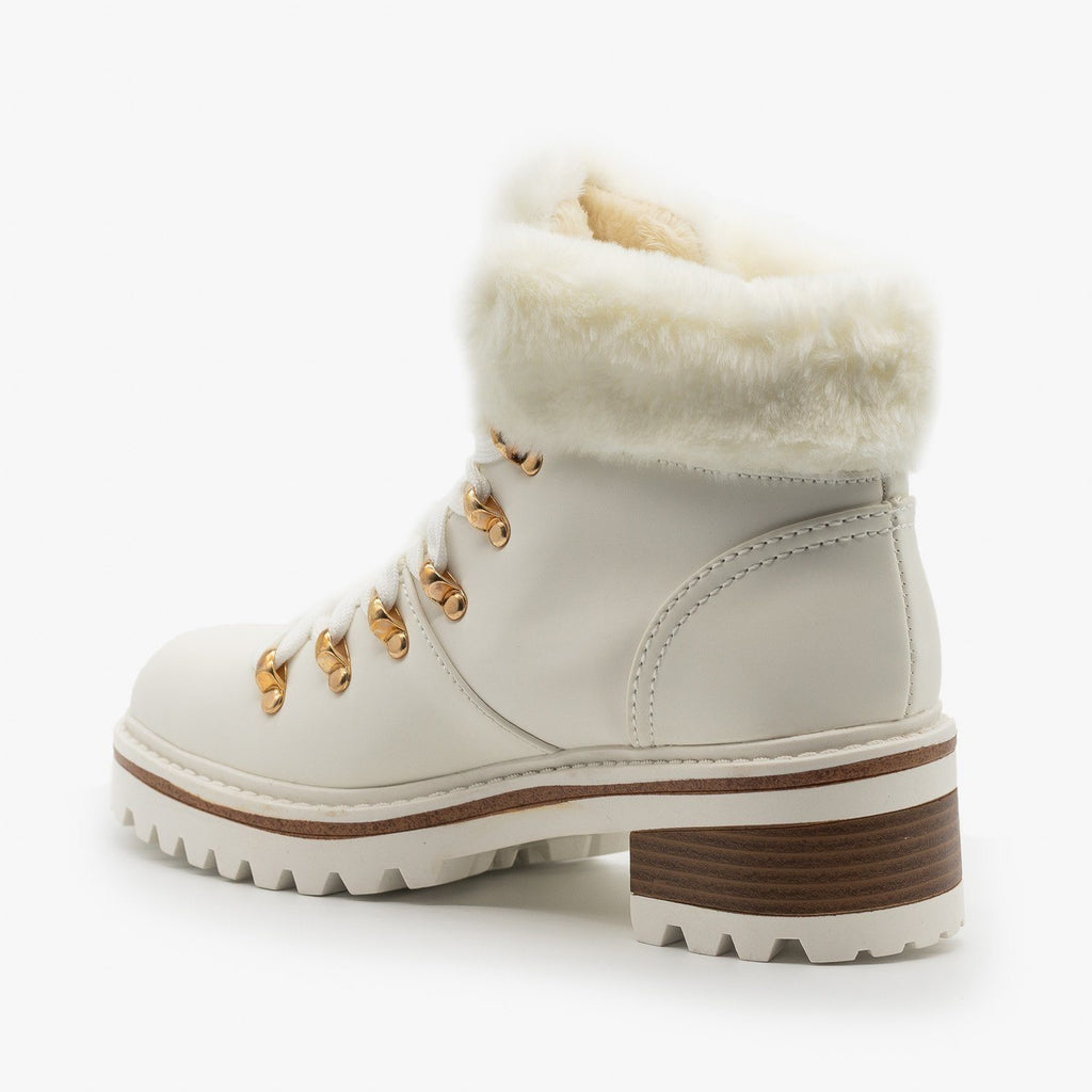 Womens Faux Fur Winter Booties - Bamboo Shoes