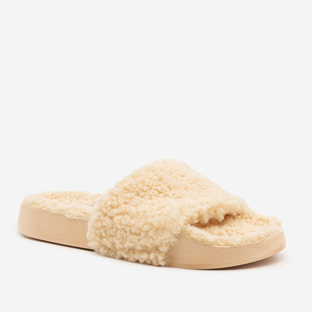 Women's Faux Sherpa Slides - Bamboo Shoes