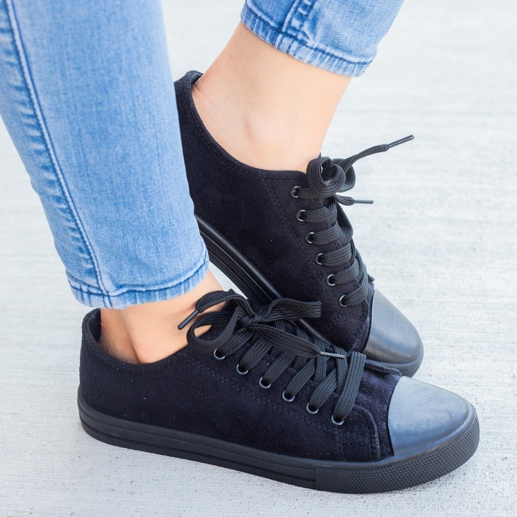 Womens Faux Suede Fashion Sneakers - Weeboo
