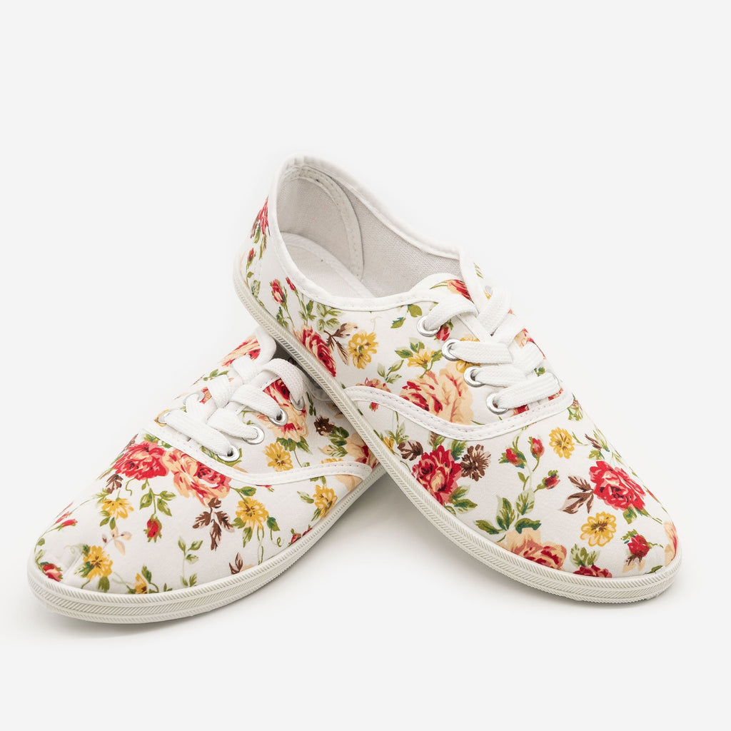 Women's Floral Canvas Sneakers - Refresh