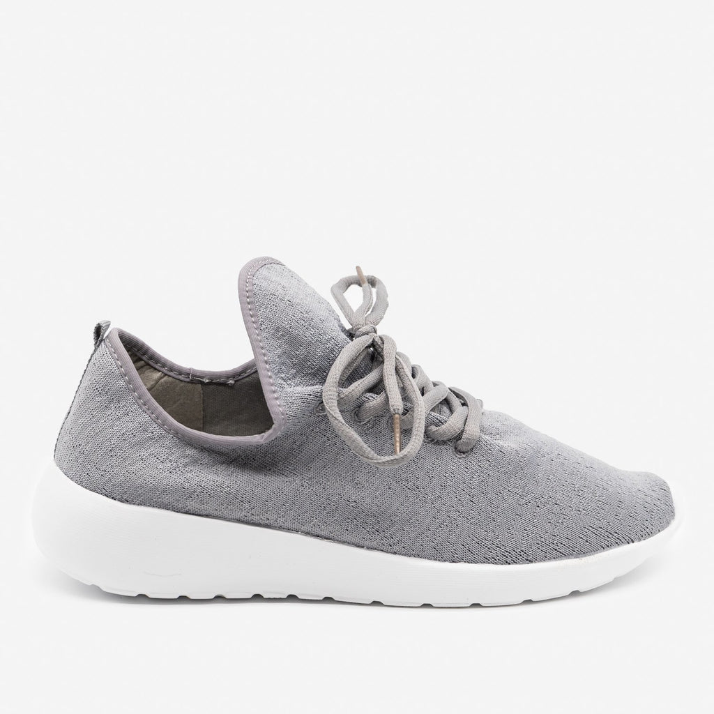 Women's Flyknit Athleisure Sneakers - Forever - Gray / 5