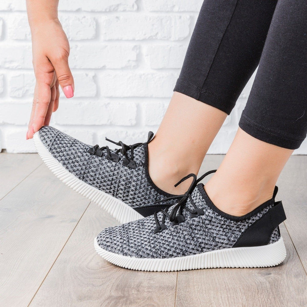 Womens Flyknit Athleisure Tennis Shoes - Anna Shoes