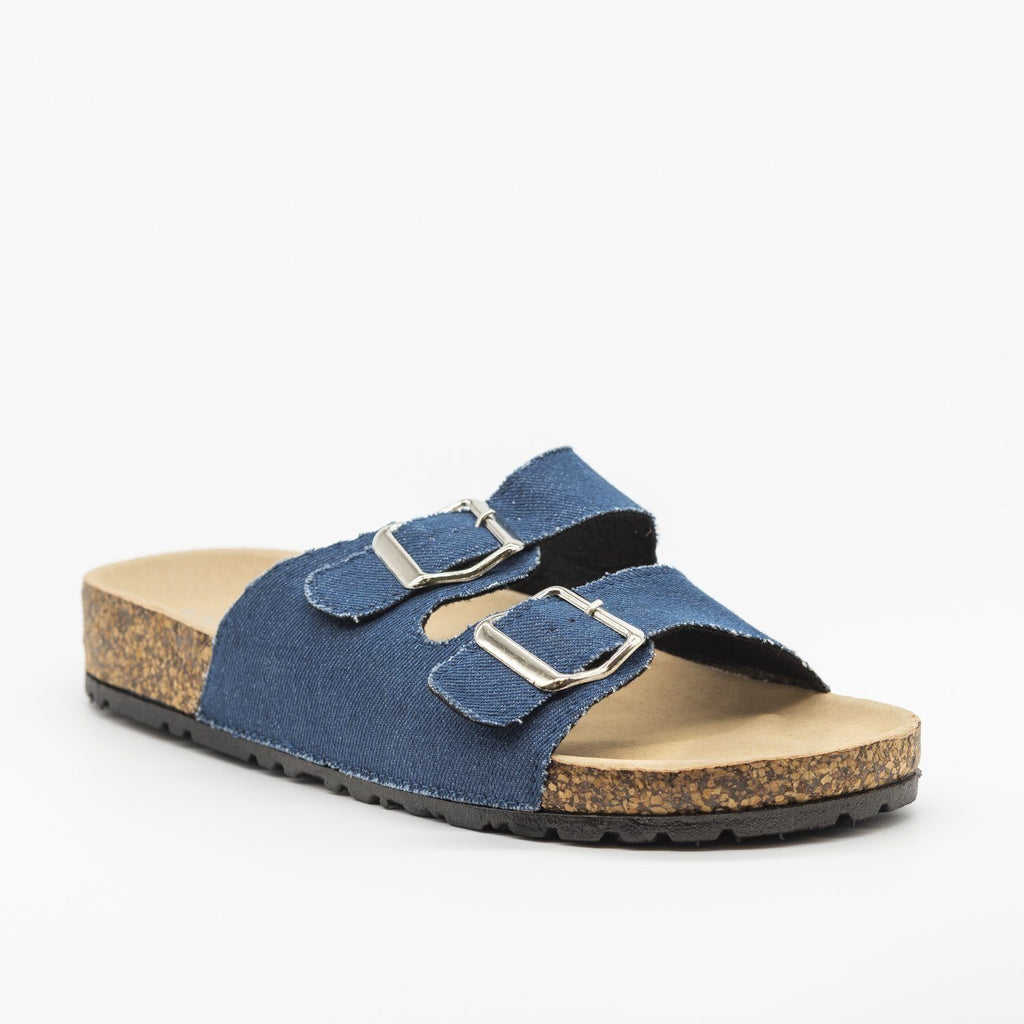 Womens Fun Double Buckle Fashion Sandals - Bamboo Shoes