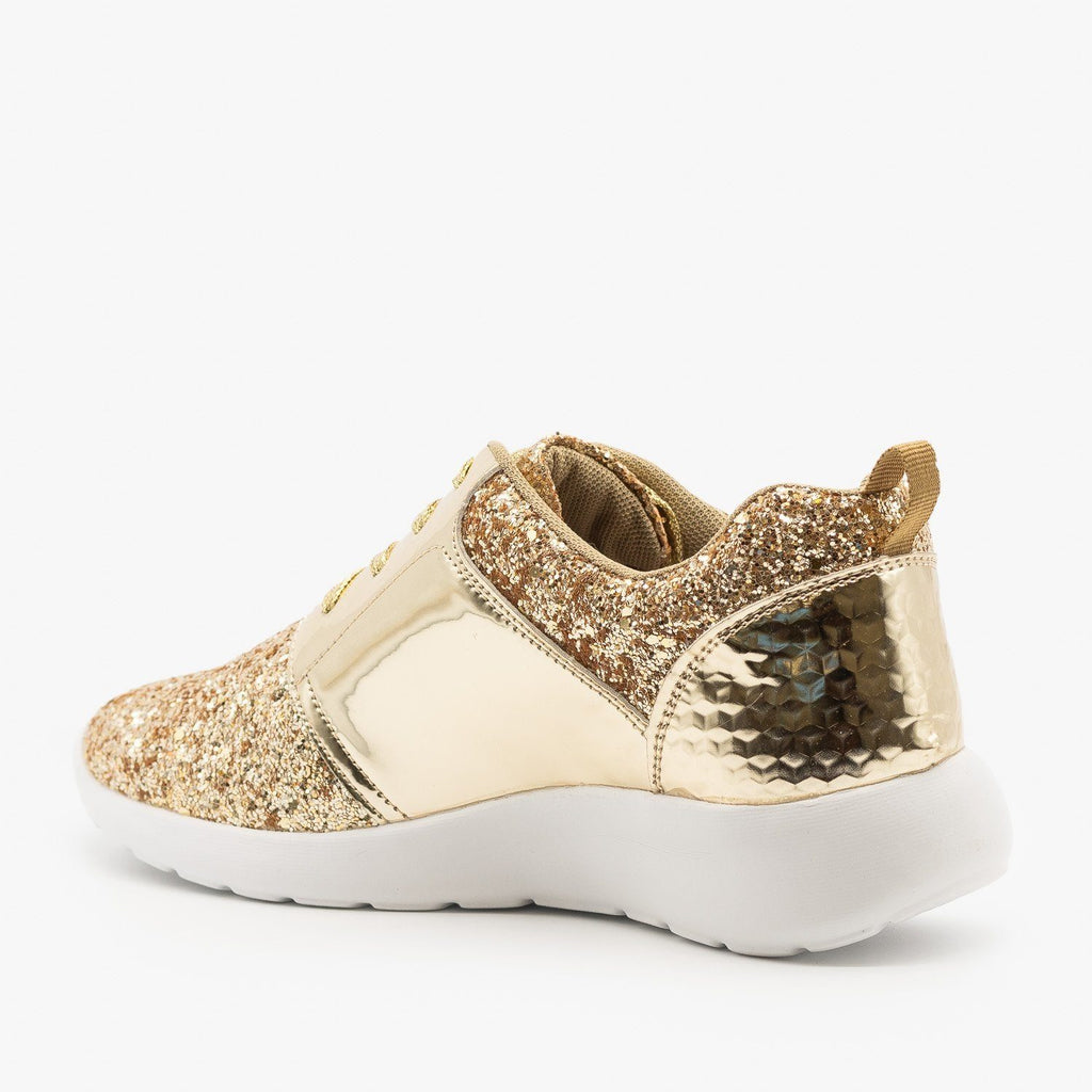 Womens Glitter Fashion Sneakers - Forever