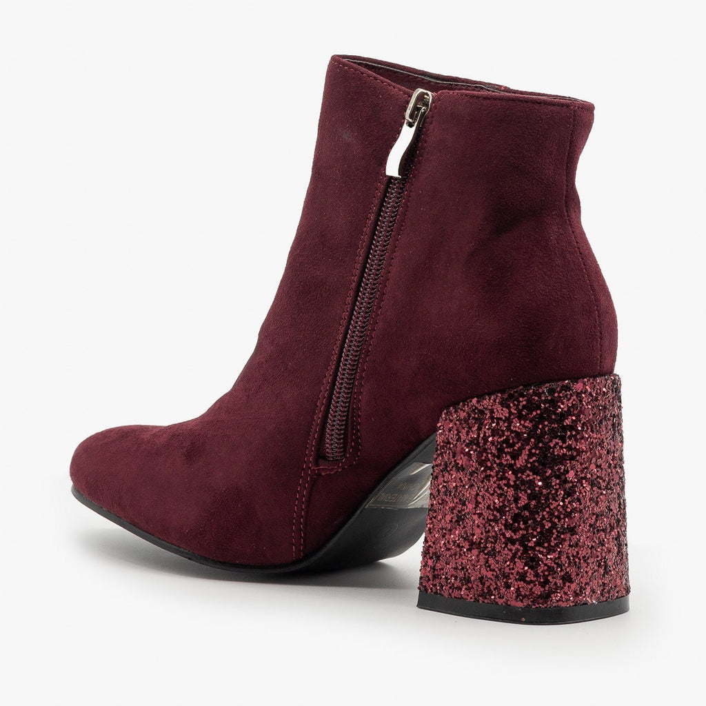 Womens Glitter Heel Booties - Nature Breeze