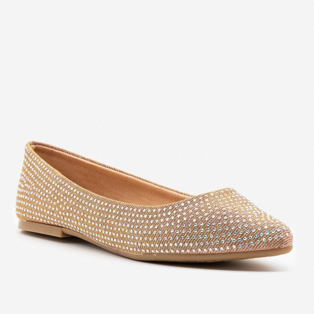 Women's Glitzy Almond Toe Flats - Bamboo Shoes