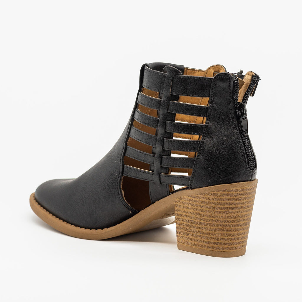 Womens Gorgeous Caged Ankle Booties - Qupid Shoes