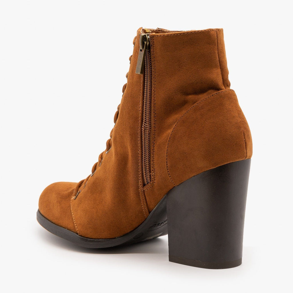 Womens Gorgeous Chunky Heel Booties - Bamboo Shoes