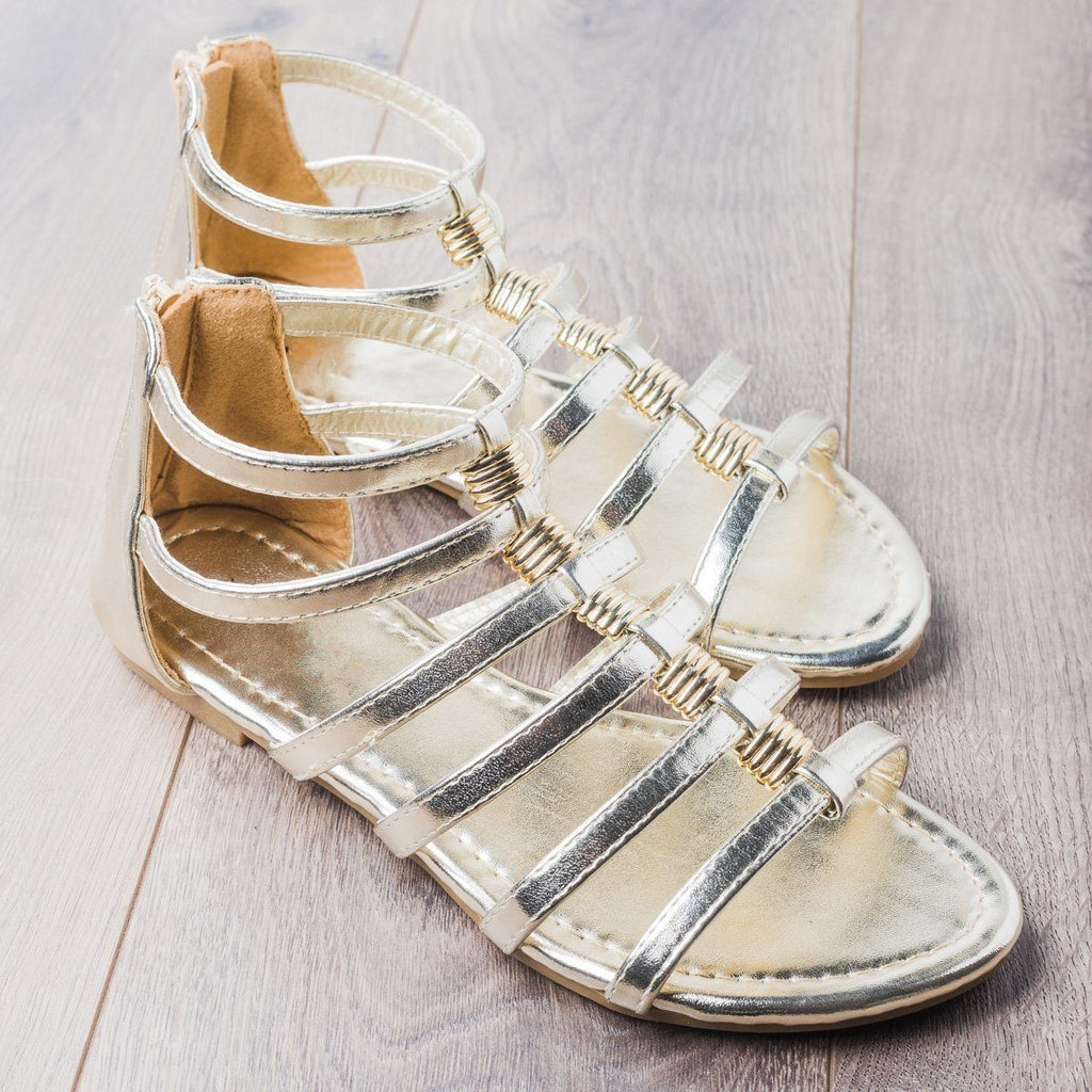 Womens Gorgeous Gladiator Sandals - Anna Shoes - Gold / 5
