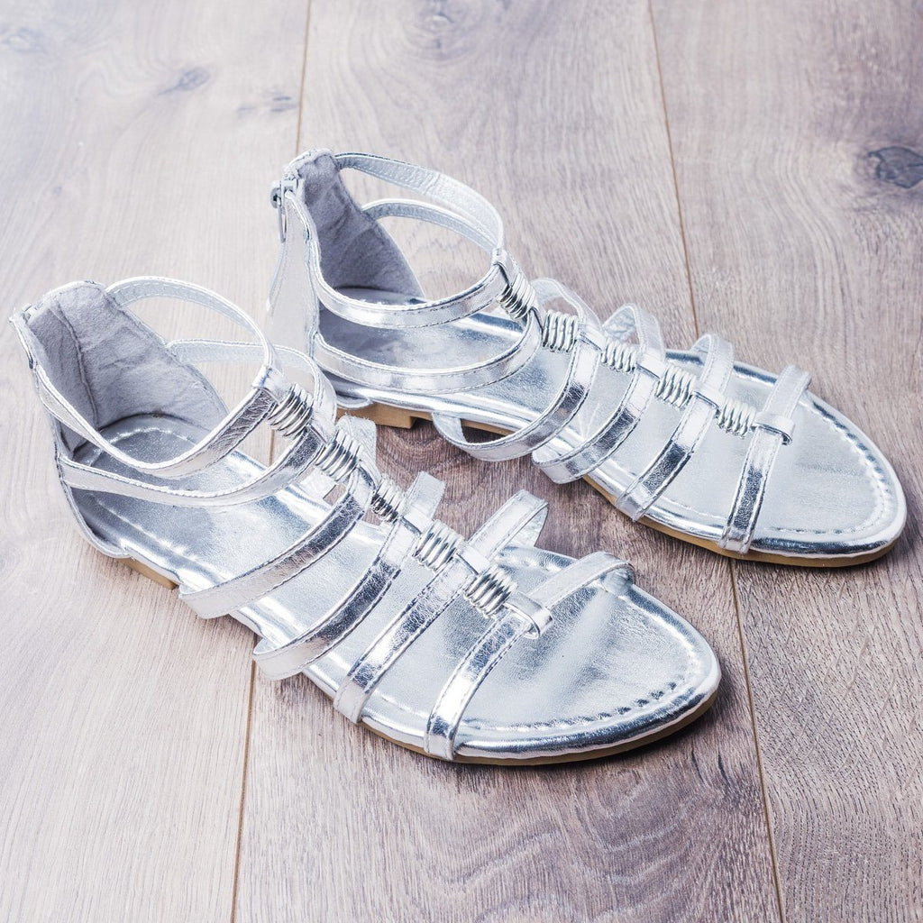 Womens Gorgeous Gladiator Sandals - Anna Shoes - Silver / 5