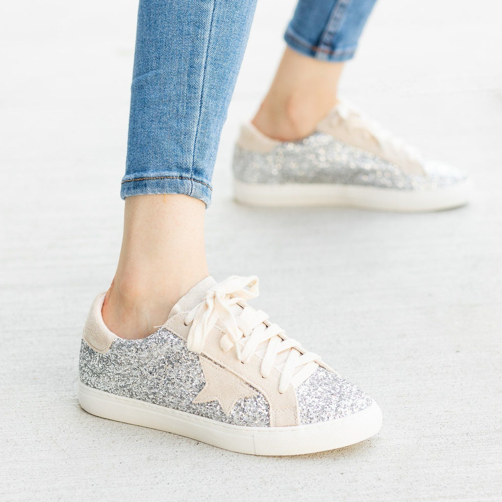 Womens Gorgeous Glitter Fashion Sneakers - Nature Breeze