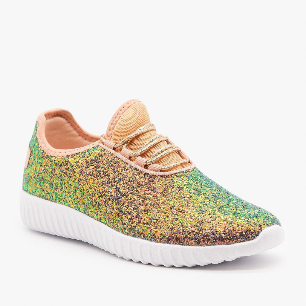 Womens Gorgeous Glitter Sneakers - Forever