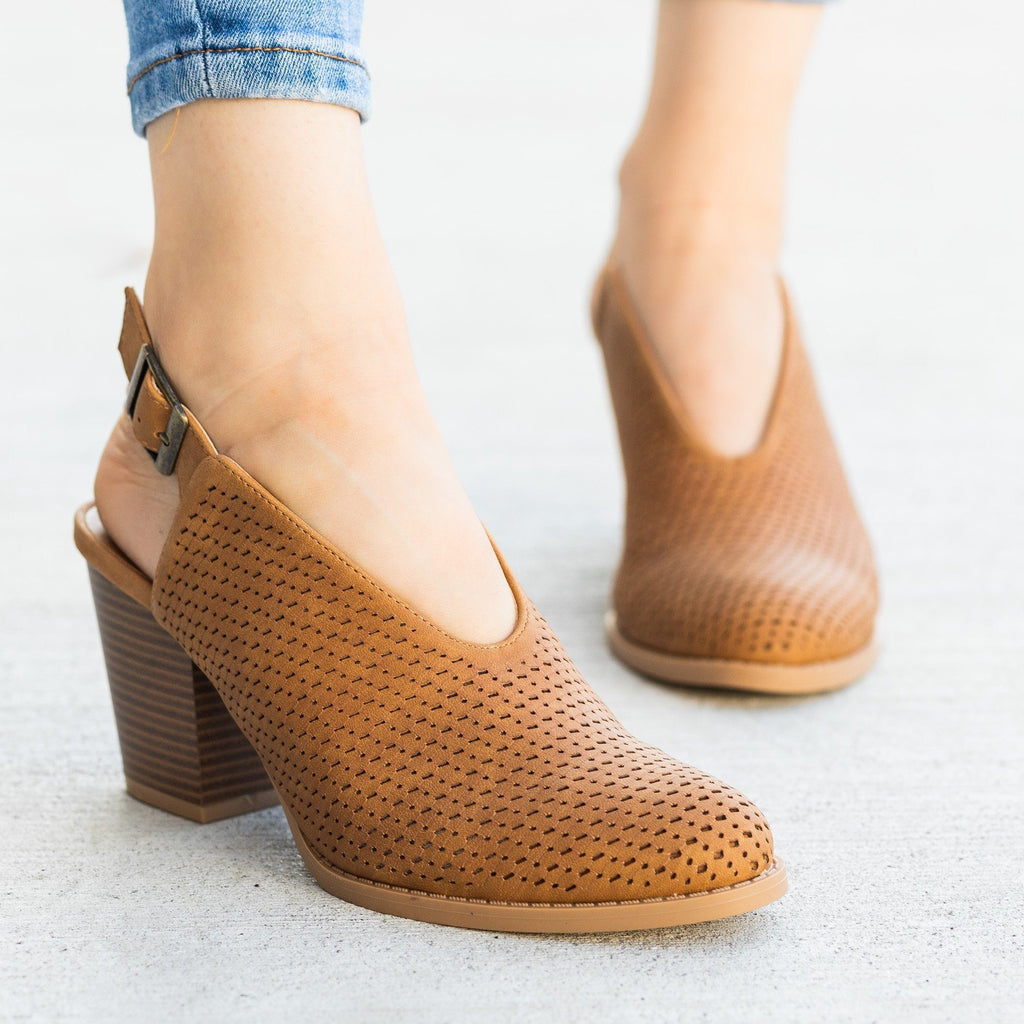Womens Gorgeous Laser-Cut Booties - Qupid Shoes