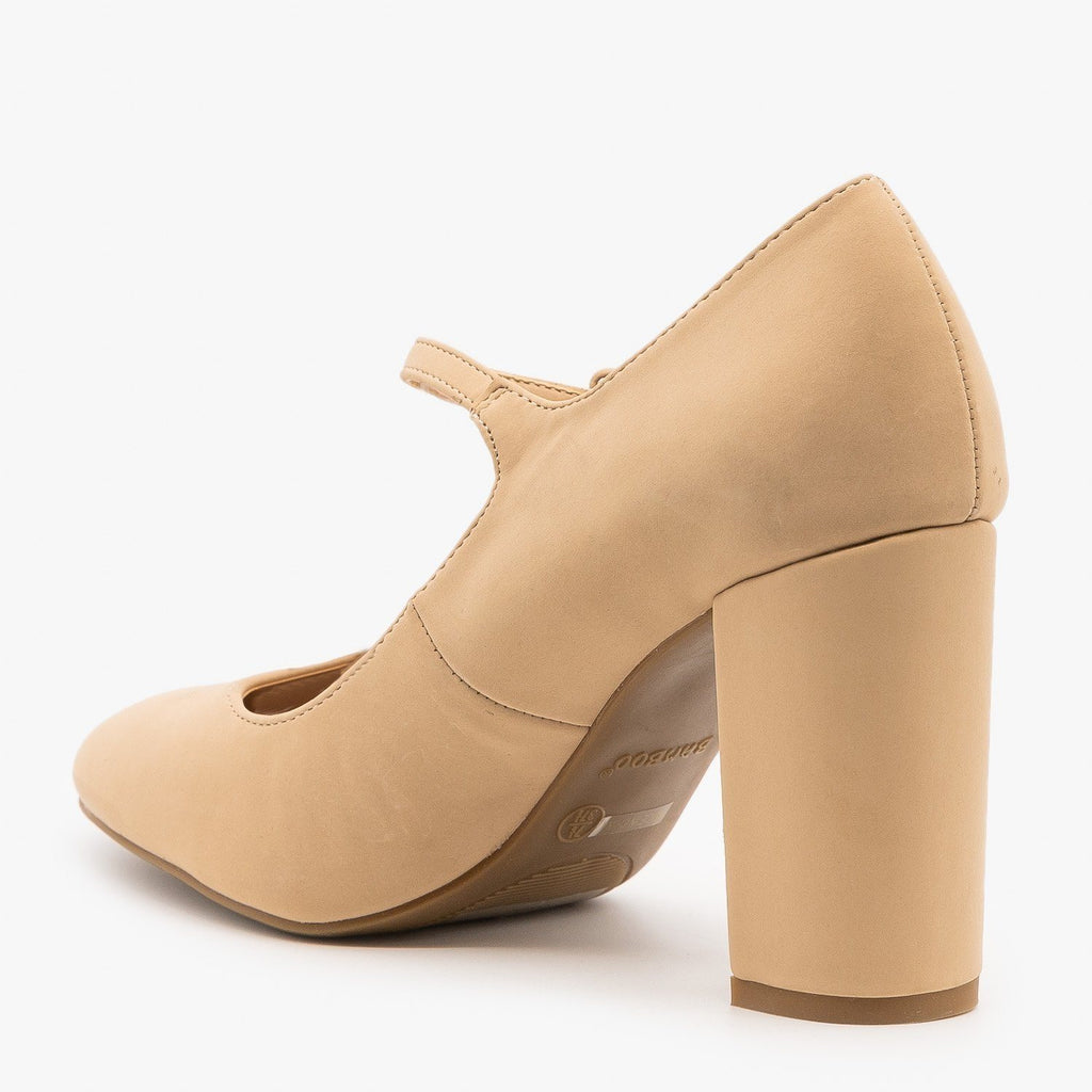 Womens Gorgeous Mary Jane High Heels - Bamboo Shoes