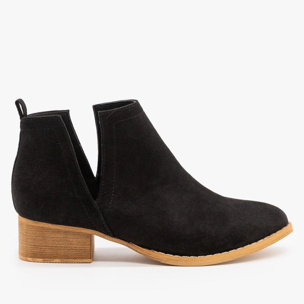 Womens Gorgeous Side V-Cut Booties - ARider Girl