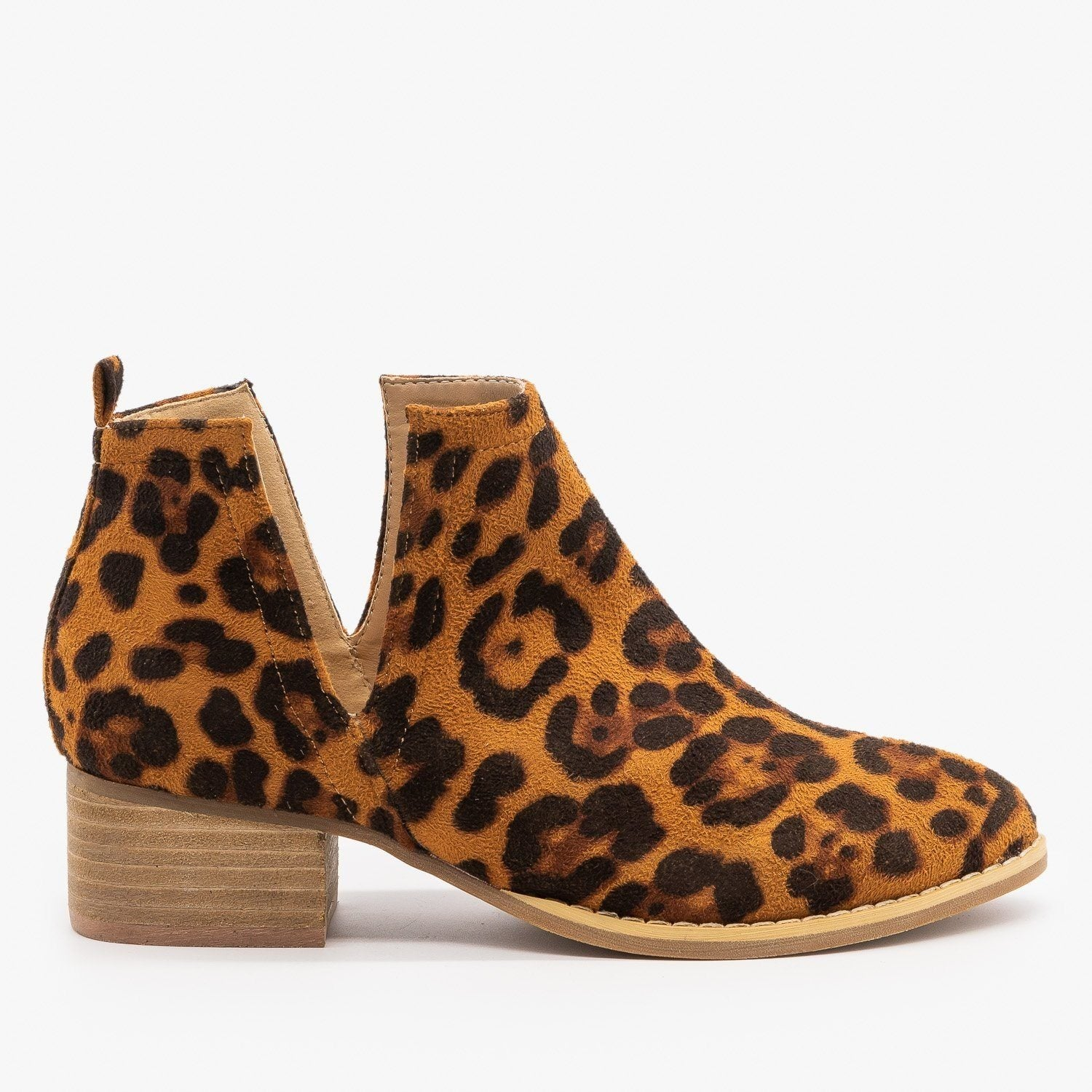 V-Cut Booties - ARider Girl Shoes Avery