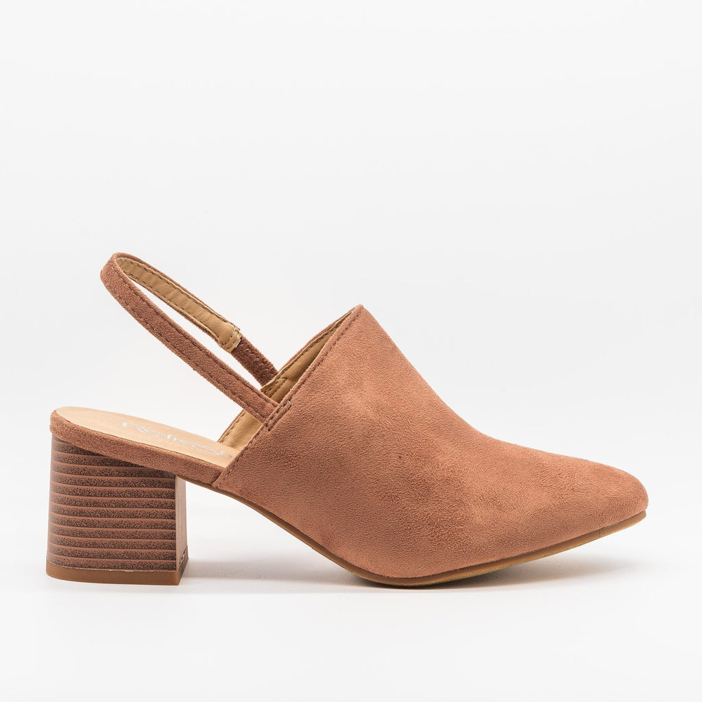Womens Gorgeous Slingback Low Heels - Refresh