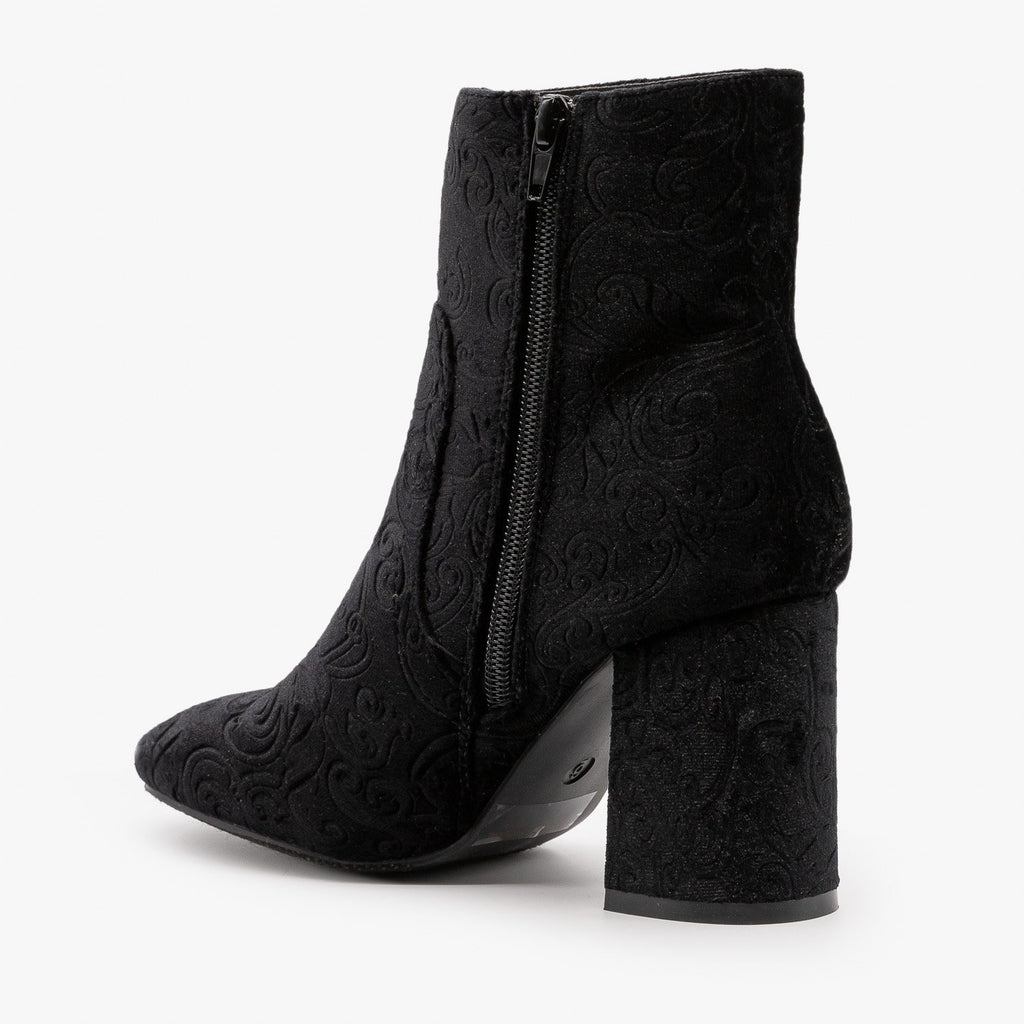 Womens Gorgeous Velvet Booties - Refresh