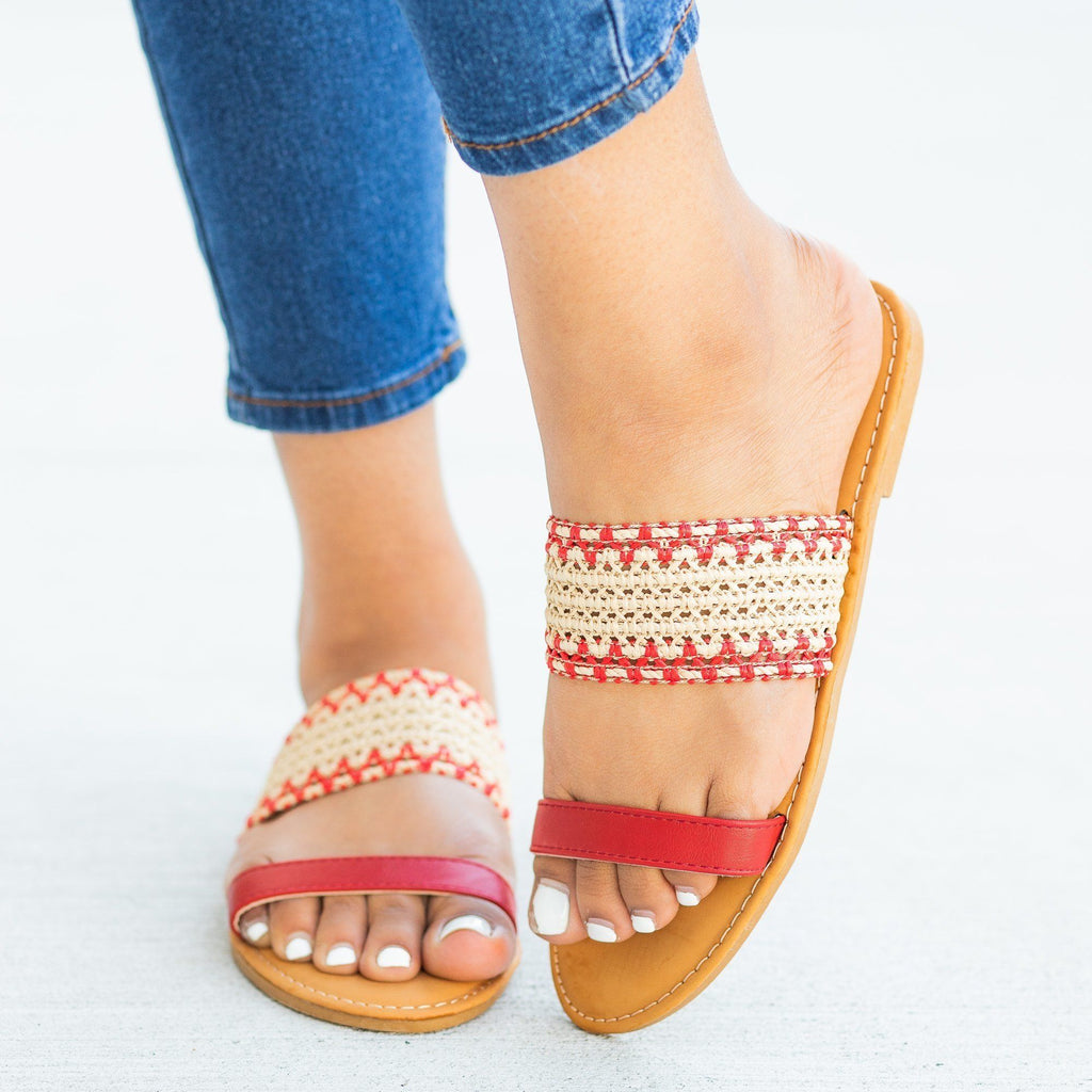 Womens Gorgeous Woven Sandals - Sunny Feet