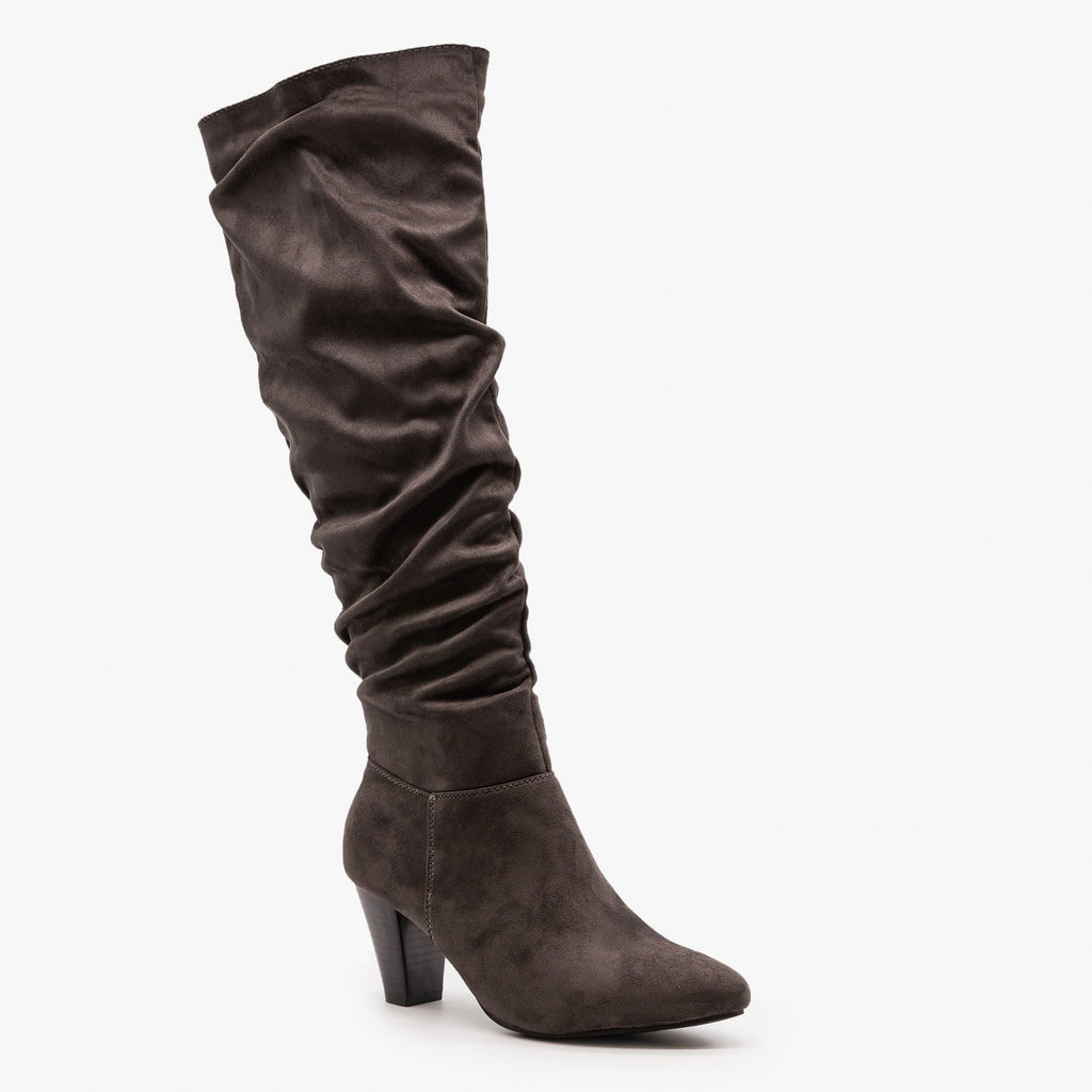 Womens High Heel Slouchy Boots - Refresh