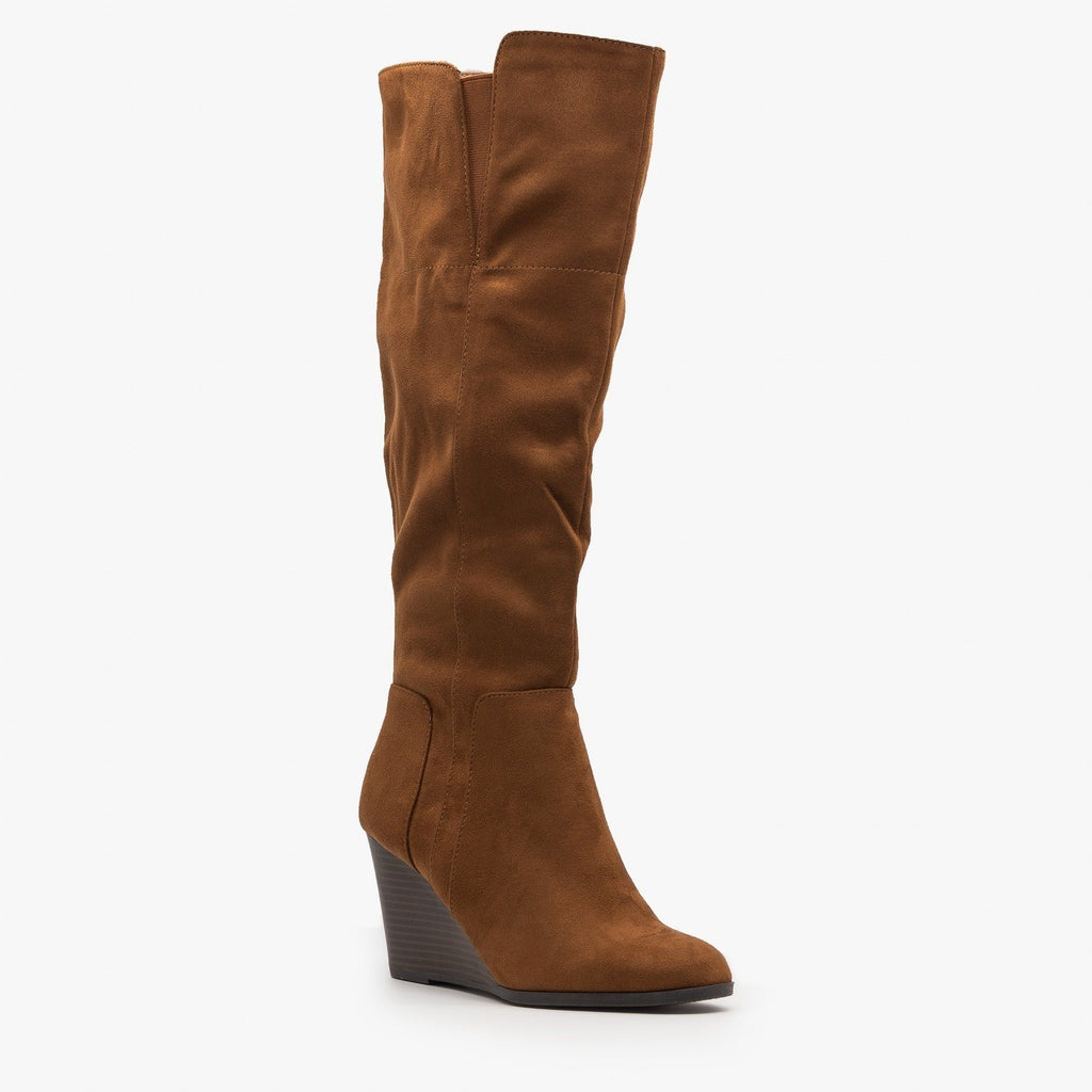 Knee High Boot Wedges - Delicious Shoes